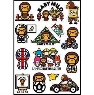 Bape Baby Milo Logo Stickers Set  Z34 Bape Logo