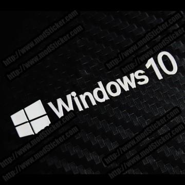 Windows 10 Win10 Metal Logo Sticker