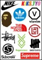 Trendy Brands Logo Stickers Set (Z50)