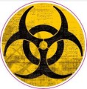 Biohazard Logo Sticker (D314)