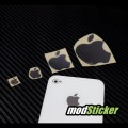 Apple Metal Logo Sticker