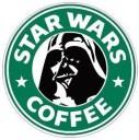 Star Wars Coffee Logo Sticker (D287)