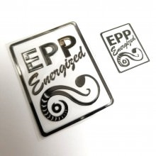 EPP Energized Custom Tailor-Made Metal Logo Sticker