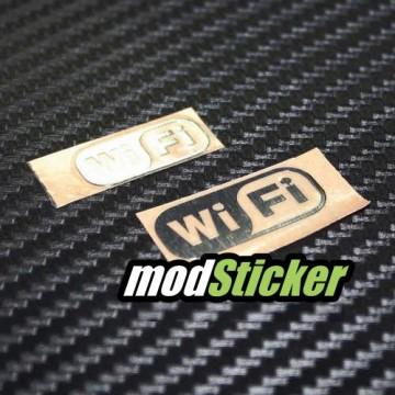 WiFi Metal Logo Sticker