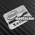 Intel Inside Xeon Metal Logo Sticker