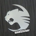 Roccat 1 Metal Logo Sticker
