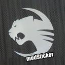 Roccat 1 Metal Logo Sticker