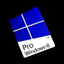 Windows 8 Pro Metal Logo Sticker - PVC Laser Colors (Square)