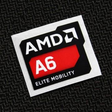 (New) AMD A6 Elite Mobility Logo Sticker