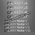 Samsung Galaxy S4 S5 S6 S7 Note5 Note6 Note7 Note8 Metal Logo Sticker