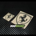 Ferrari Metal Logo Sticker