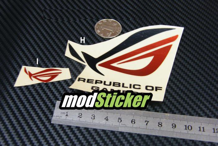 Asus republic of gamers rog logo sticker circle modsticker com