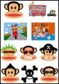 Paul Frank Logo Stickers Set (Z32)