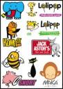 Cute Brands Logo Stickers Set (Z21)