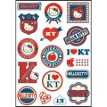 Hello Kitty Logo Stickers Set (Z74)