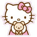 Hello Kitty Logo Sticker (D164)