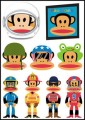 Paul Frank Logo Stickers Set (Z9)