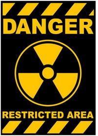 Danger Restricted Area Logo Sticker (D76) - modSticker.com