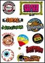 Skate Logo Stickers Set (Z22)