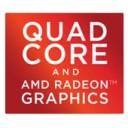 (New) Quad Core and AMD Radeon Graphics Logo Sticker
