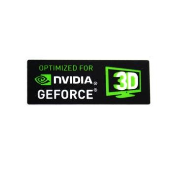 Optimized for Nvidia GeForce 3D Logo Sticker