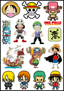 One piece logo stickers set z26 - Stickers muraux one piece ...