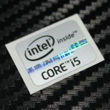 New Intel Inside Core i5 Logo Sticker (Silver)