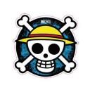 One Piece ??? Logo Sticker (D368)