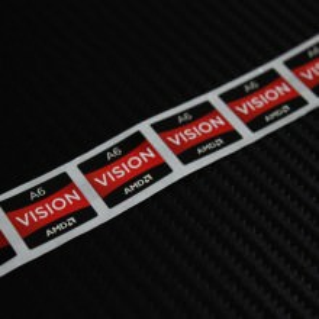 AMD Vision A6 Logo Sticker