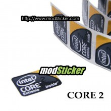 Intel Inside Core 2 Extreme Logo Sticker (Black)