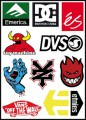 Skate Logo Stickers Set (Z5)