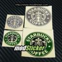 Starbucks Coffee Metal Logo Sticker