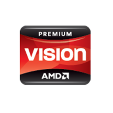 AMD Vision Premium Logo Sticker (Red)