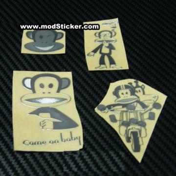 Paul Frank Metal Logo Sticker (4 Styles)