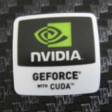Nvidia GeForce with CUDA Logo Sticker