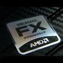 AMD Unlocked FX Processor Metal Logo Sticker