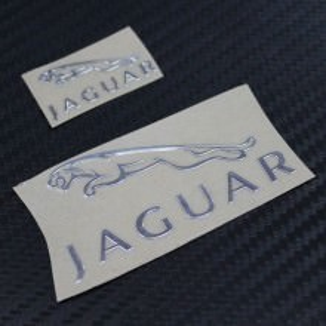 Jaguar Metal Logo Sticker
