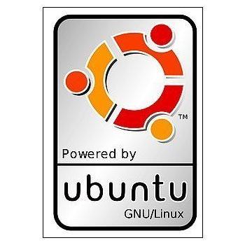 Powered by Ubuntu GNU/Linux Logo Sticker (1803)