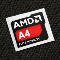 (New) AMD A4 Elite Mobility Logo Sticker