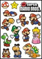 Super Mario Bros Logo Stickers Set (Z16)