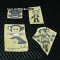 Paul Frank Metal Logo Sticker (4 Styles)