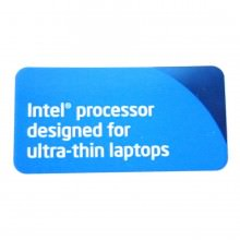 Intel Processor Designed for Ultra-Thin Laptops Logo Sticker (Blue)