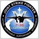 F-35 Lightning II Logo Sticker (D217)