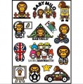 Bape Baby Milo Logo Stickers Set (Z34)