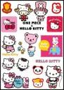 Hello Kitty Logo Stickers Set (Z39)