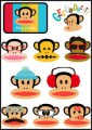 Paul Frank Logo Stickers Set (Z51)