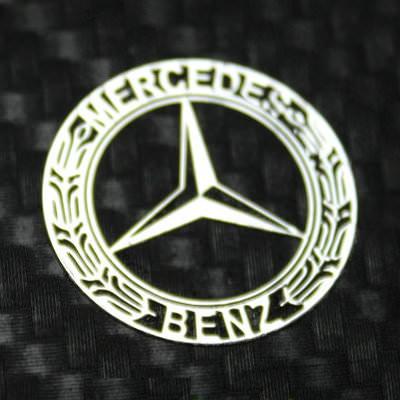Mercedes benz metal logo sticker for A mercedes benz product sticker