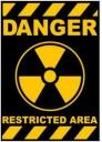Danger Restricted Area Logo Sticker (D76)
