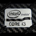 Intel i3 Metal Logo Sticker