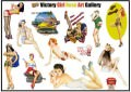 Victory Girl Nose Art Gallery Logo Stickers Set (Z102)
